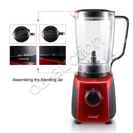 commercial blender food processor mixer juicer smoothie ice crush maker 6 blades. Black Bedroom Furniture Sets. Home Design Ideas
