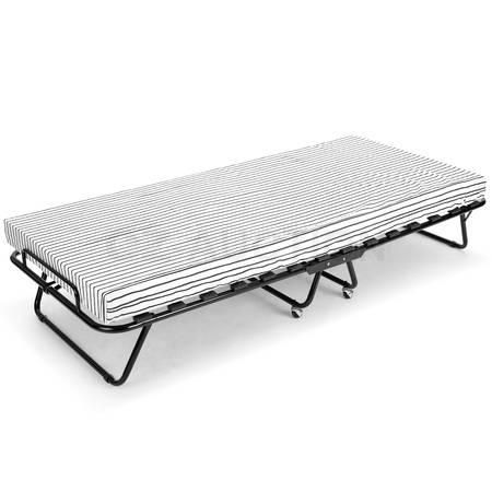 Portable Folding Bed With Mattress Camping Single Size