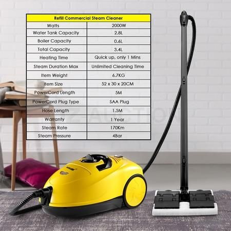 Commercial 13in1 Steam Cleaner Mop High Pressure Carpet