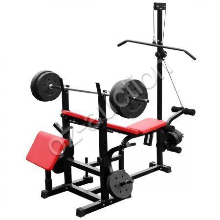 genki fitness multistation weight bench press incline
