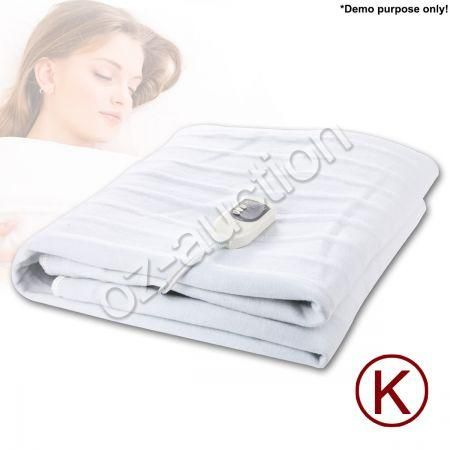 king size fitted heated electric blanket detachable dual. Black Bedroom Furniture Sets. Home Design Ideas