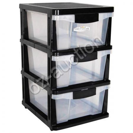 plastic storage drawers on wheels plastic storage drawers shelf 3 levels with slide out 24799
