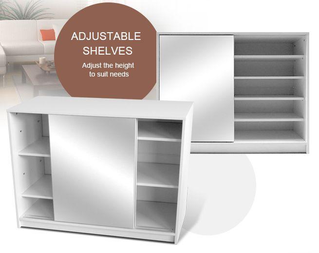 25 Pairs Adjustable Mirror Shoe Cabinet Sliding Door Shoes Storage ...
