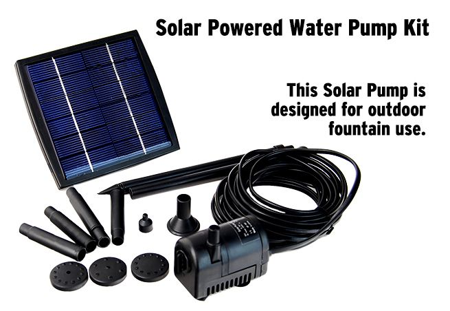 Solar power fountain garden pond pool water feature pump for Solar water pump pond