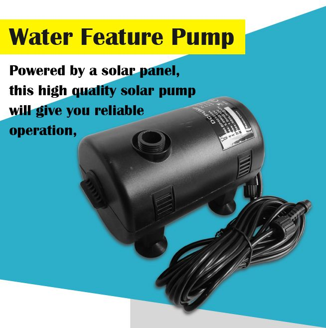Solar Power Pool Fountain Water Feature Submersible Pump