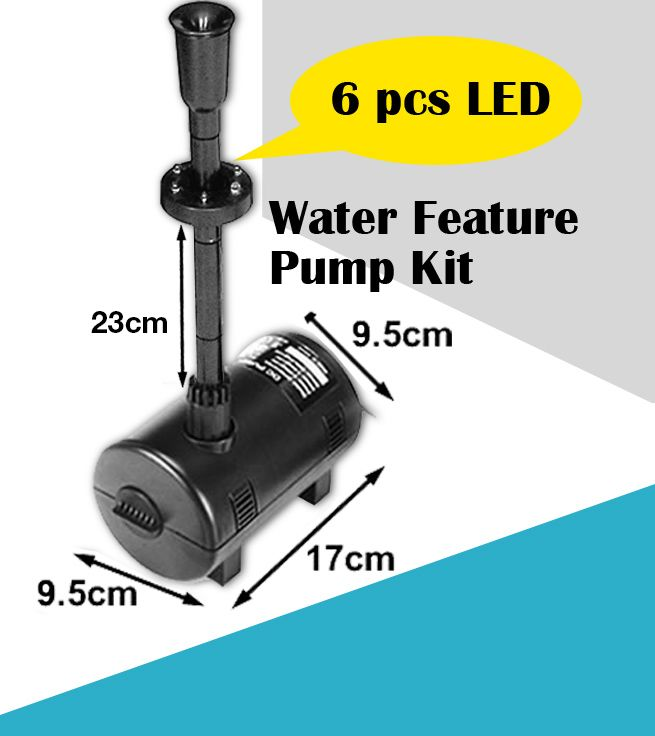 20w Solar Power Fountain Water Pump Pond Pool Kit Timer Led Light Submersible Ebay