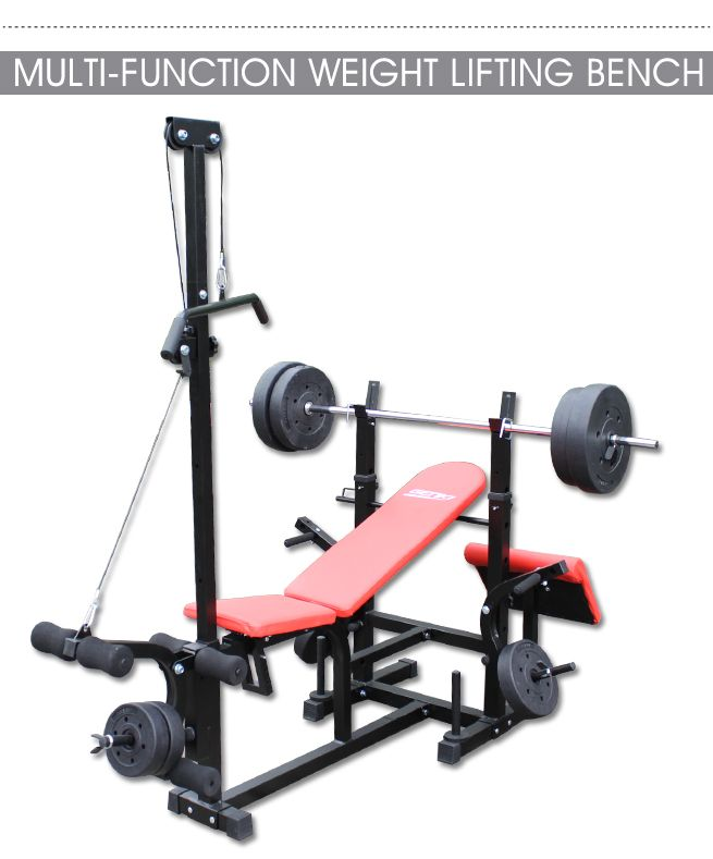 Bench Press Barbell Dumbbell: Genki Fitness Multi-Station Weight Bench Press Incline
