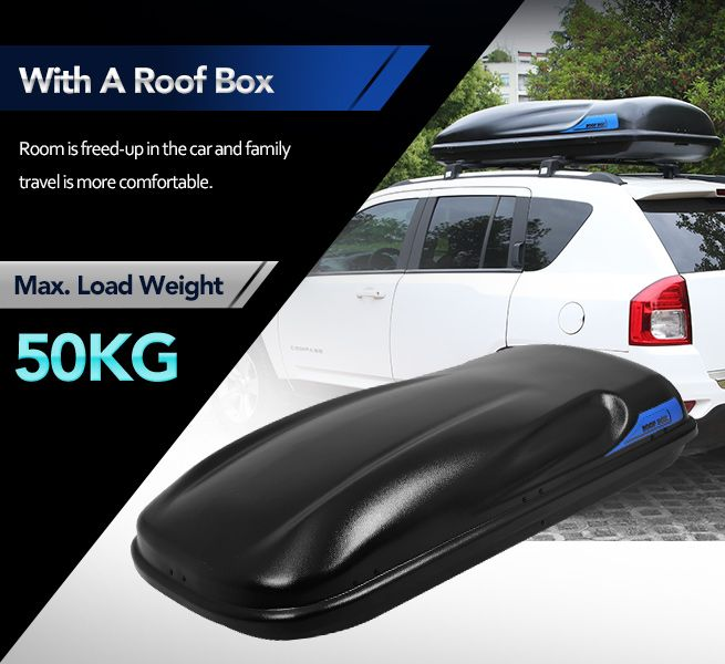 ... Car Roof Rack Luggage Pod   450L Capacity In Black ...