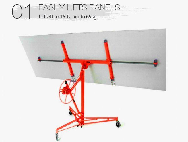 Red shogun 11ft 65kg drywall sheet panel lifter plaster for Red top gypsum plaster